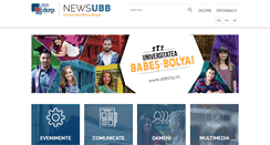 Preview of news.ubbcluj.ro