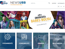 Tablet Preview of news.ubbcluj.ro